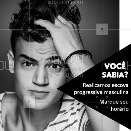 Agora que você já sabe, é só agendar seu horário! ? Entre em contato ? (xx) xxxxx xxxx #progressivamasculina #ahazoubeauty  #barbeirosbrasil #barbeiro #barbearia