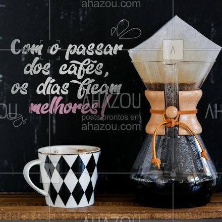 Café é vida! ?☕ #café #frasesdecafé #ahazoutaste  #barista #coffeelife #coffee