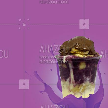 A melhor combinação de sabores te espera para energizar o seu dia, entre em contato e faça o seu pedido! #açaí #ahazoutaste #cupuaçú #açaíteria