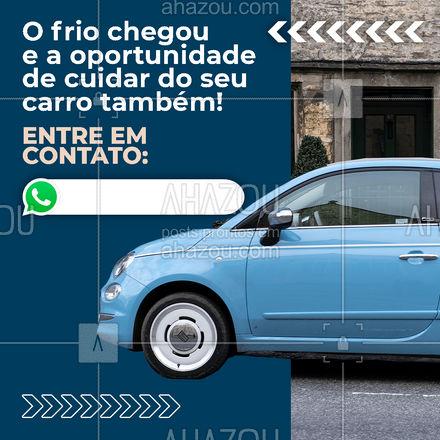 Nessa estação oferecemos serviços especiais para o seu carro. Entre em contato!? #carro #inverno #frio #serviços  #AhazouAuto