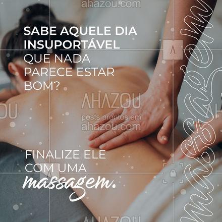 A massagem infelizmente pode não mudar o dia, mas com total certeza vai te fazer finalizá-lo bem melhor, calmo(a) e bem relaxado(a). #massagem #relaxamento #AhazouSaude #massoterapia #engraçado #convite