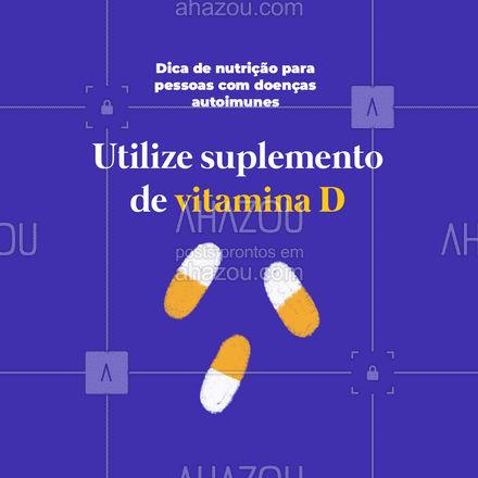 Os níveis equilibrados de vitamina D são fundamentais para manter um sistema imunológico fortalecido.  #AhazouSaude  #nutricao #bemestar #alimentacaosaudavel #saude #viverbem