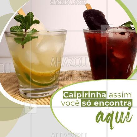 Nossa caipirinha te refresca ao dobro, com deliciosos sorvetes para  dar um toque especial na sua bebida. Vem provar ? #ahazoutaste #bar #pub #lounge #drinks #caipirinha #sorvete