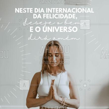 Deseje o bem, sorria e emane sua felicidade ao universo. E ele retribuirá com amor. ❤️  #AhazouSaude  #meditation #yogalife #yoga #namaste #yogainspiration