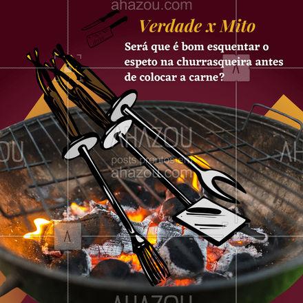 Isso é um mito, você só precisa mantê-lo limpo após o uso. O segredo para um bom churrasco está no corte das carnes. ??  #ahazoutaste  #churrasco #bbq #açougue #barbecue #churrascoterapia #meatlover