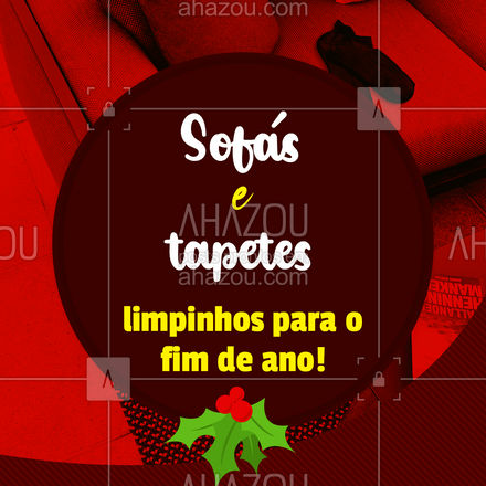 Prepare a sua casa para o Natal! Não se esqueça dos seus tapetes e estofados, eles também precisam de total atenção. Cuidamos deles para você, basta você entrar em contato e agendar seu horário!  #ahznoel #AhazouServiços #natal #boasfestas #limpeza #estofados
