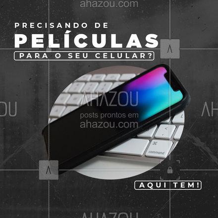 Se tratando da tela do celular, todo cuidado é pouco! Adquira sua película com a gente e ganhe a aplicação! #AhazouTec #pelicula #celular  #AssistenciaTecnica  #AssistenciaCelular  #celulares