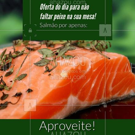 A promoção do dia de hoje é o famoso salmão! Os amantes desse peixe maravilhoso não podem perder esta oferta! #ahazoutaste #promocao #ofertadodia #salmao  #peixes  #delivery  #frutosdomar