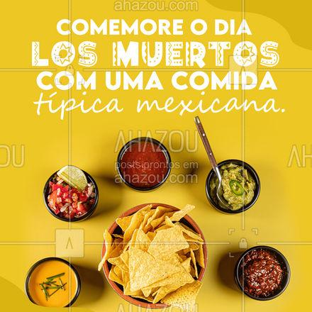 O Dia de Los Muertos tem que ser comemorado do jeito certo, com comidinhas típicas do México.  E nós temos um cardápio especial te esperando, para você sentir que está comemorando o Dia de Los Muertos no México.  Esperamos você!  #ahazoutaste #DiadeLosmuertos  #comidamexicana