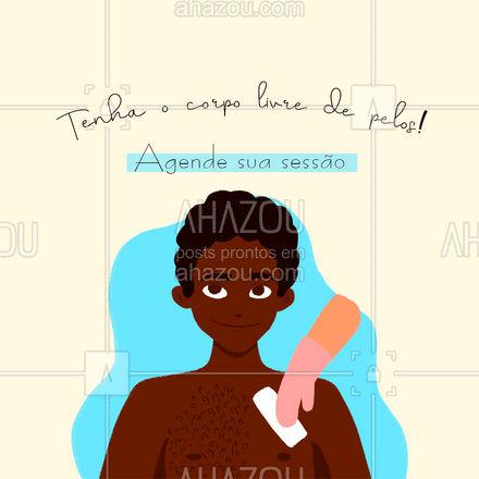 Porque homem também se cuida e se depila, venha fazer sua sessão com a gente! ?  #depilação #depilaçãomasculina #AhazouBeauty  #bemestar #beleza
