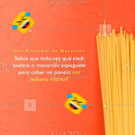Um italiano fica triste toda vez que você faz isso.😂😂 O macarrão tem que ser preparado por inteiro, ao começar a cozinhar ele desce para a panela e cozinha por igual.😋  #ahazoutaste #diadomacarrao #macarrao #pasta #motivacional #frase  #massas  #comidaitaliana  #italianfood  #cozinhaitaliana  #meme #engracado