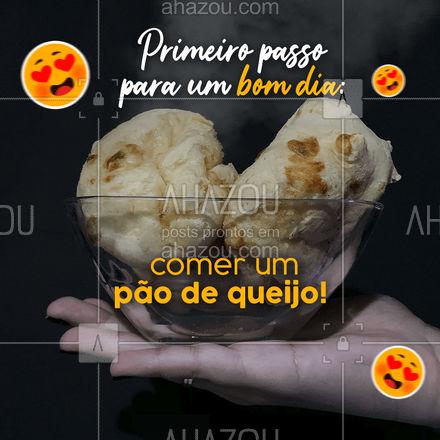 Isso que é jeito de começar bem o dia, né? ? Peça seu pão de queijo! #bomdia #pãodequeijo #delivery #ahazoutaste #cafédamanhã #pãoquentinho