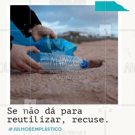 Todos os anos, são produzidas 400 toneladas de plástico no mundo. Podemos reduzir drasticamente esse número apenas parando de usar itens que não podem ser reutilizados, como canudos e copos descartáveis.  Para fazer a sua parte, que tal parar de usar itens como esses? O meio ambiente agradece! ?  #julhosemplastico #meioambiente #ahazou #natureza #sustentabilidade #eco