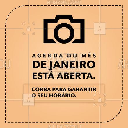 A agenda do mês de janeiro já está aberta. Garanta já o horário que melhor lhe agrade. #agenda #agendajaneiro  #ahazoufotografia #janeiro #ensaiofotográfico #convite #ahazoufotografia