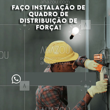 Precisando instala o quadro de distribuição de força na sua casa? Então conta comigo, entre em contato! #serviços #eletricista #eletricidade #AhazouServiços #eletrica #serviçosparacasa #instalação
