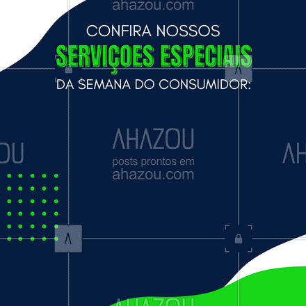 Na semana do consumidor contamos com serviço s especiais para melhor atendê-lo! ? #AhazouTec #AhazouTec