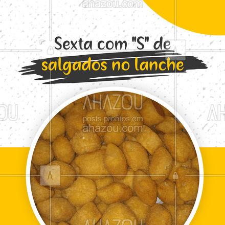 Um lanche recheado de salgados é tudo que você precisa para essa sexta em ? #ahazoutaste #salgados #sexta #convite #fritos #lanche #ahazoutaste