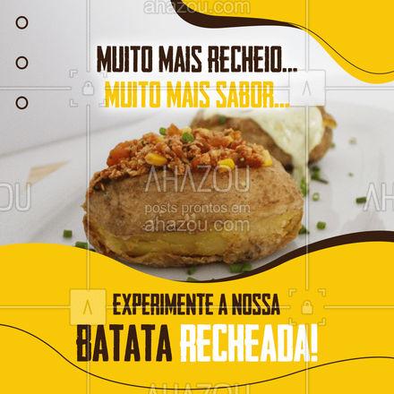 Você não vai se arrepender! Peça já a sua! #batatarecheada #ahazoutaste  #restaurante #alacarte #foodlovers #eat #instafood #ilovefood #foodlovers