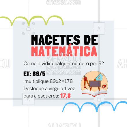 Anote essa dica e ganhe tempo nas questões de matemática! ? #Macetes #Matemática #AhazouEdu #DicasdeEstudo #AhazouEdu