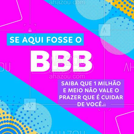 Para nós, o maior prêmio é ter você como cliente! #AhazouBeauty #BBB21  #beleza