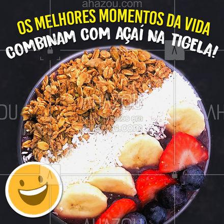 E quem não concorda é porque ainda não experimentou! ?  #acai #acainatigela #ahazoutaste  #gelados #sorvete