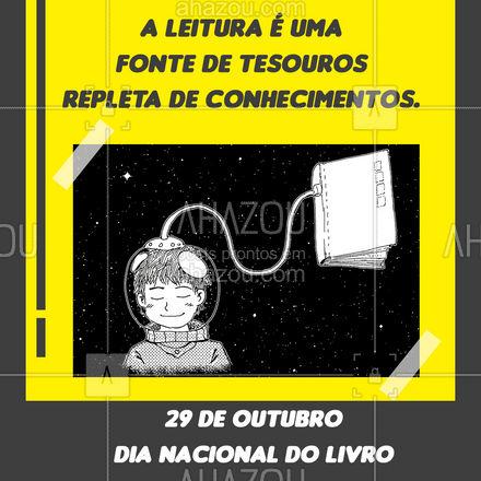 Dia especial para nós leitores! Dia Nacional do Livro! ?? #AhazouEdu #educação #diadolivro #leitura #ler #cursinho