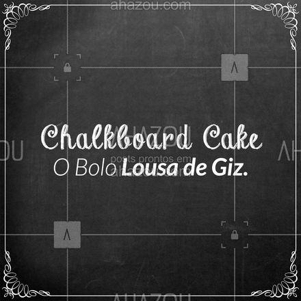 O bolo Chalkboard Cake é um dos mais modernos dos últimos tempos, sua decoração simula um quadro de giz. É uma ideia bastante original e permite o uso de letterings diversos na pequena lousa. E aí gostou dessa ideia? Conta pra gente nos comentários! #ahazoutaste  #bolocaseiro #docinhos #foodlovers #confeitaria #kitfesta #salgados
