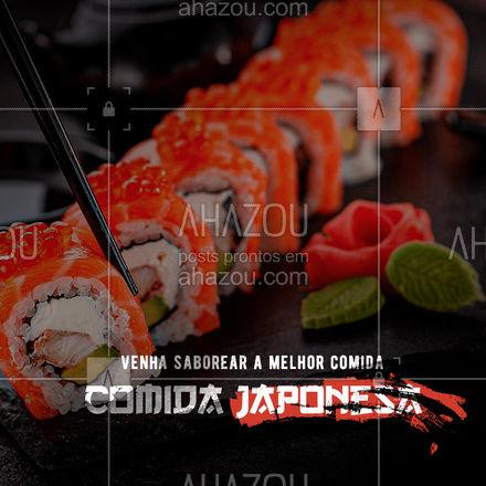 É comida japonesa de qualidade que você quer? Vem pra cá! #ahazoutaste #japa  #sushidelivery  #sushitime  #japanesefood  #comidajaponesa  #sushilovers #restaurantejaponês #convite