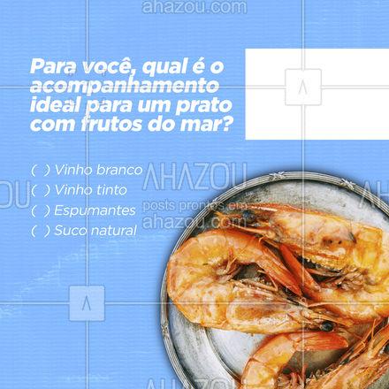 Conta pra gente nos comentários o que você pede com os seus frutos do mar! ?? #frutosdomar #pescados #ahazoutaste #peixes  #instafood  #frutosdomar #foodlovers