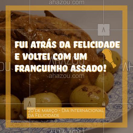 Felicidade é juntar toda a família em torno da mesa e comer aquele franguinho assado delicioso! Para comemorar o Dia da felicidade venha provar o nosso frango assado. #churrasco #bbq #açougue #barbecue #ahazoutaste #churrascoterapia #meatlover #churras #felicidade #diadafelicidade #diainternacionaldafelicidade
