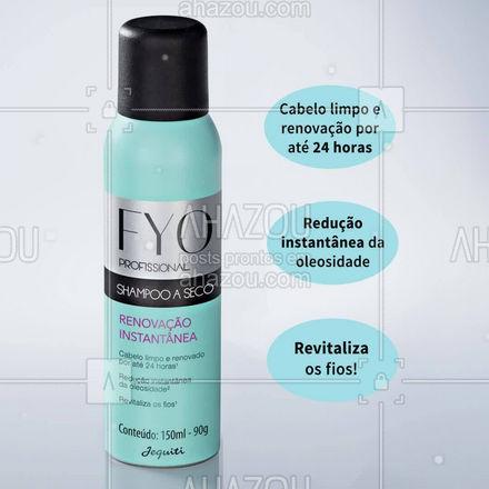 Além de ser um produto mega inovador, o Shampoo a Seco Fyo Renovação Instantânea é indispensável para o dia a dia! Desenvolvido para deixar os cabelos revitalizados, ele promove uma agradável sensação de limpeza e frescor nos fios. Sua fórmula absorve a oleosidade, proporcionando um look limpo e renovado - no momento da aplicação e por até 24 horas! ⠀ #ShampooASeco #FyoRenovaçãoInstantânea #ahazourevenda #ahazoujequiti