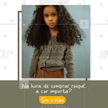 Você é aquela pessoa que ama combinar as cores e pira com um tom diferente, ou qualquer uma tá bom? #AhazouFashion #talmaetalfilha  #instakids  #moda  #kidsfashion  #modainfantil  #fashion