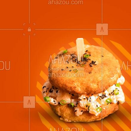 Quem disse que você não pode ter tudo? Aqui você pode sim!  Venha experimentar o nosso sushi burger! ?  #sushiburger #japa #comidajaponesa #ahazoutaste  #japanesefood #sushitime #sushilovers