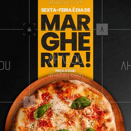 Margherita combina com sexta-feira que combina com você! Corre a peça a sua! ?(XX) (XXXX-XXXX) ? #ahazoutaste  #pizza #pizzalife #pizzaria #pizzalovers