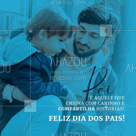 A todos os papais, desejamos um feliz dia repleto de novas histórias!  #DiaDosPais #homenagem #barbershop #AhazouBeauty  #barbeiro #barbearia #barber