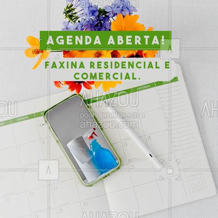 Agende uma data pelo telefone: (inserir numero). Serviços eficazes e de qualidade! #AhazouServiços #editaveisahz #faxinaresidencial #faxinacorporativa #faxina