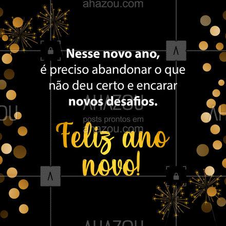 Novo ano, novos planos! ? #anonovo #felizanonovo #ahznoel #ahazou #frasesmotivacionais #motivacional #ahazou