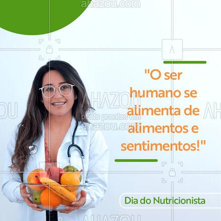 Vai muito além da dieta! Parabéns a todos os Nutricionistas!  #AhazouSaude  #nutricionista #nutricao  #saude  #cuidese  #bemestar  #qualidadedevida  #viverbem