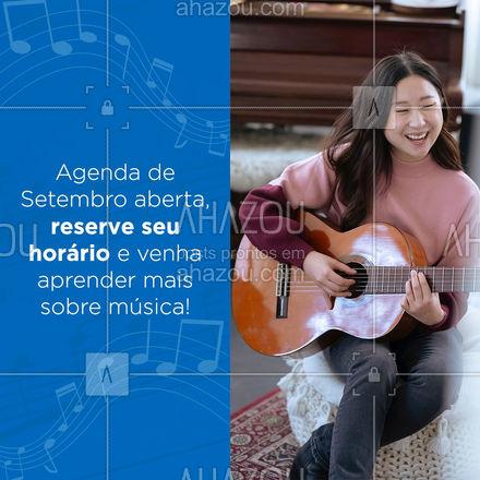 Chegou a hora de aprender mais sobre música, reserve seu horário! 🎶🎸 #AhazouEdu #aprendamúsica #professordemusica #aulaparticular #música #instrumentos #aulademusica