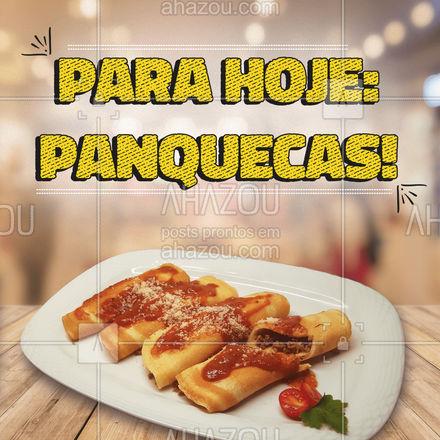 Para o dia se tornar especial, nada que uma panqueca não ajude! Peça já a sua! #ahazoutaste #panqueca #pancake #massas #foodlovers #foodlovers #eat #ahazoutaste