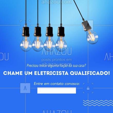 Na hora da emergência com a fiação de sua casa o melhor é contratar um eletricista qualificado! Entre em contato conosco pelo telefone acima. ?? #Eletricista #Fiação #AhazouServiços #eletrica