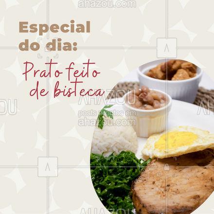 Hoje é dia de pf de bisteca! Garanta essa delicia para o seu almoço! #restaurante #alacarte #foodlovers #ahazoutaste #selfservice #pratofeito #pfdebisteca