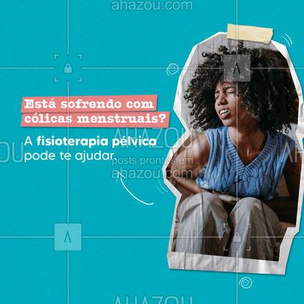 Venha fazer uma avaliação e conferir os benefícios da fisioterapia pélvica ? #AhazouSaude  #fisioterapeuta #fisio #qualidadedevida #qualidadedevida #colicamenstrual