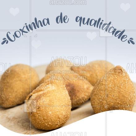 Que tal uma clássica hoje? Venha saborear essa perfeição em forma de salgado! #coxinha #salgado #ahazoutaste #foodlovers  #salgados