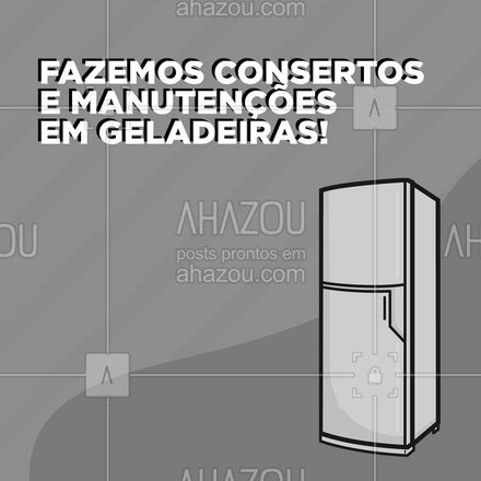 Algo de errado com sua geladeira? Entre em contato conosco se precisar de algum conserto ou manutenção. #reparos #manutenção #AhazouTec #convite #assistencia #eletrodomesticos