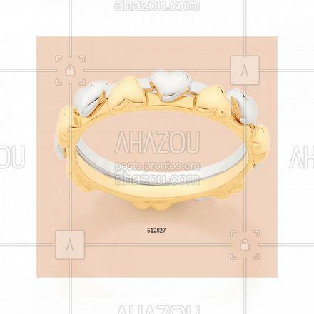 A mistura de banhos veio pra ficar! E olha que lindo fica esse anel com o efeito de 2 em 1, como um encaixe perfeito! #rommanel #anel #ref512827 #ahazourommanel #ahazourevenda