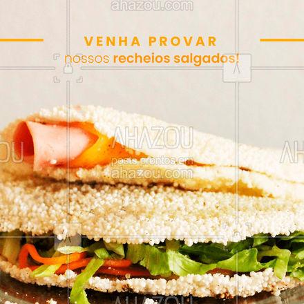 Temos uma variedade de recheios salgados um mais gostoso que o outro, escolha o seu favorito e peça já! ??#tapioca #salgada #sabores #ahazoutaste #instafood #foodlovers #ilovefood #recheios #ahazoutaste