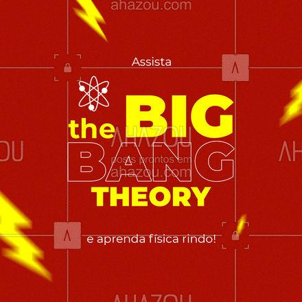 Quem disse que a fisica não é divertida? Na série The Big Bang Theory você vai rir sem parar, e ainda vai aprender fisica se divertindo! Essa deliciosa comédia é recheada de referências a cultura pop e piadas científicas. Mas não se preocupe, tudo é feito com muita simplicidade, pra qualquer público entender. Então pega o seu controle e aperta o play.  #AhazouEdu #thebigbangtheory #ateoriadobigbang #fisica #séries