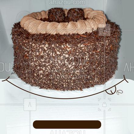 Festa boa tem que ter um bolo mega delicioso, além de muito sabor temos diversas opções de sabores 😋 #ahazoutaste #sabores #bolo #bolodefesta #festa #aniversario #convite #confeitaria