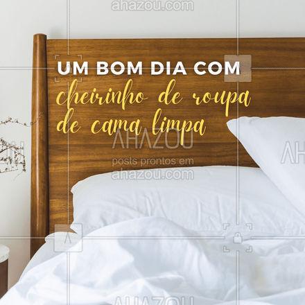 Dormir em uma cama com cheirinho de limpeza faz a gente até ter uma noite melhor de sono.??   #AhazouServiços  #lavanderia #roupalavada #roupalimpa #bomdia #motivacional #frase